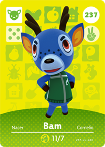 Amiibo Cards Animal Crossing Series 3 Bam