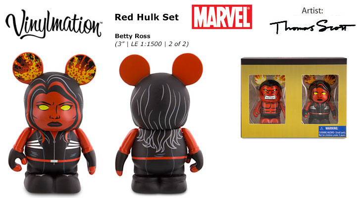 Vinylmation Open And Misc Marvel Betty Ross - Red She-Hulk