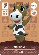 Amiibo Cards Animal Crossing Series 1 Winnie