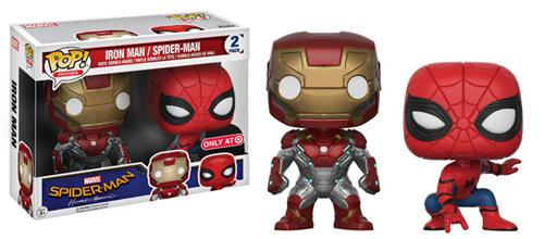Funko Pop! Marvel Iron Man / Spider-Man (2 Pack) Stock