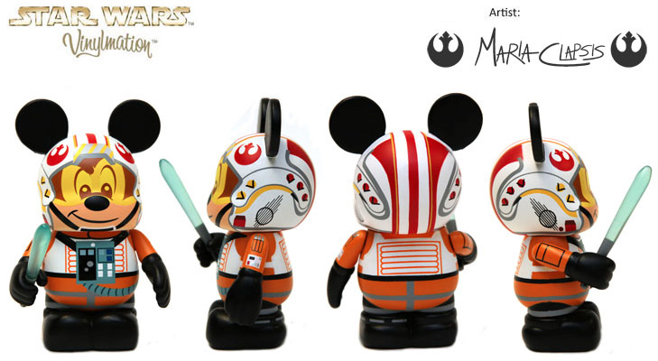 Vinylmation Open And Misc Star Wars Disney X-Wing Pilot Mickey