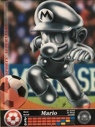 Amiibo Cards Mario Sports Superstars Metal Mario - Soccer Icon