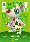 Amiibo Cards Animal Crossing Series 3 Astrid
