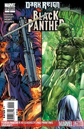 Marvel Comics Black Panther (2008 - 2010) Black Panther (2008) #2 (LASHLEY 2ND PRINTING VARIANT) Stock