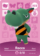 Amiibo Cards Animal Crossing Series 4 Rocco