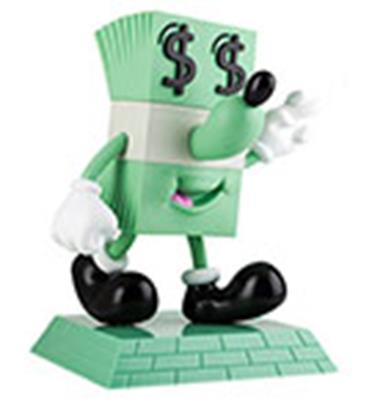 Kid Robot Art Figures Lucky Money Dollar Bank Stock