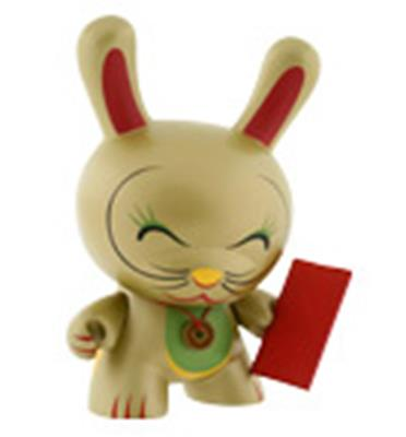 "Kid Robot 8"" Dunnys Lucky Cat (Gold)"