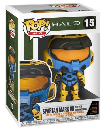 Funko Pop! Halo Spartan Mark VII with VK78 Commando Rifle ( Yellow Blue) Stock
