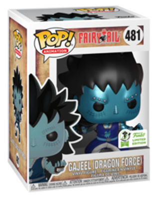 Funko Pop! Animation Gajeel with Dragon's Scale Stock