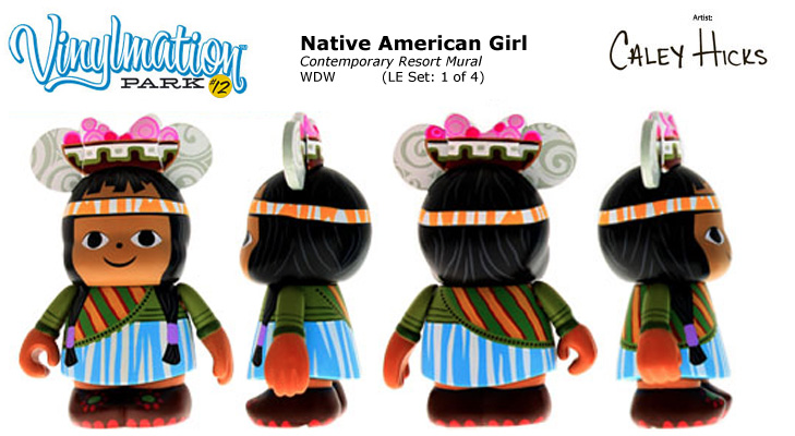 Vinylmation Open And Misc Park 12 Native American Girl