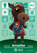 Amiibo Cards Animal Crossing Series 4 Annalise
