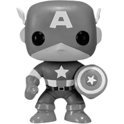 Funko Pop! Marvel Captain America (Black & White)