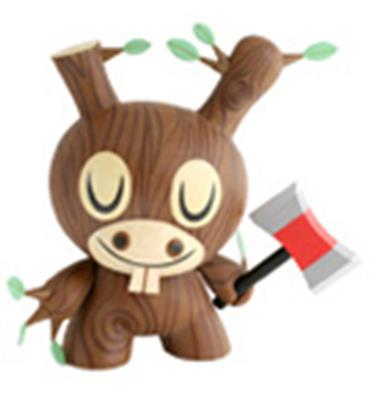 "Kid Robot 8"" Dunnys Wood Donkey"