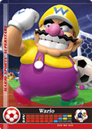 Amiibo Cards Mario Sports Superstars Wario - Soccer Icon