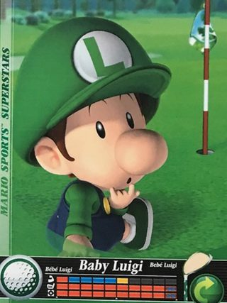 Amiibo Cards Mario Sports Superstars Baby Luigi - Golf Icon