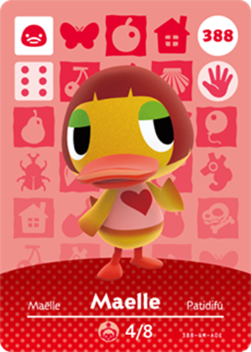 Amiibo Cards Animal Crossing Series 4 Maelle