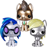 Funko Pop! My Little Pony DJ Pon-3, Dr. Hooves & Derpy (Metallic)