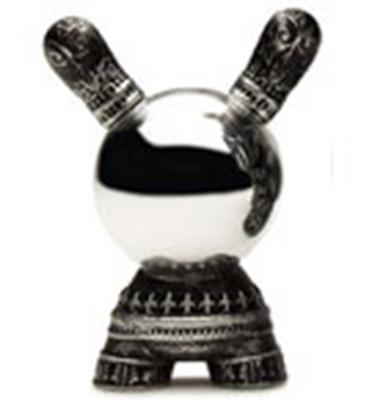Kid Robot Special Edition Dunny Antique Silver Crystal Ball Stock