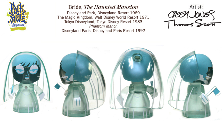 Vinylmation Open And Misc Park Starz 1 Haunted Mansion Bride 'ghost'