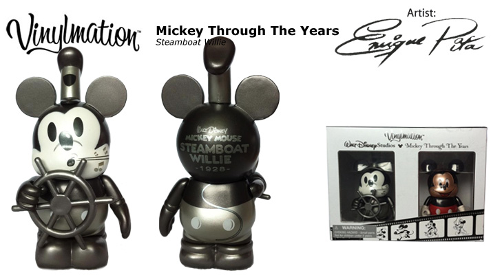 Vinylmation Open And Misc Mickey Through the Years Steamboat Willie - 1928