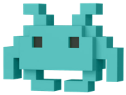 Funko Pop! 8-Bit Medium Invader (Teal)