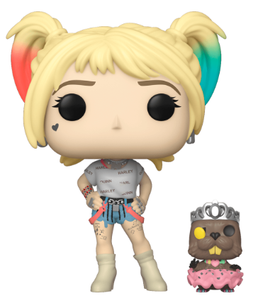 Funko Pop! Heroes Harley Quinn and Beaver Icon