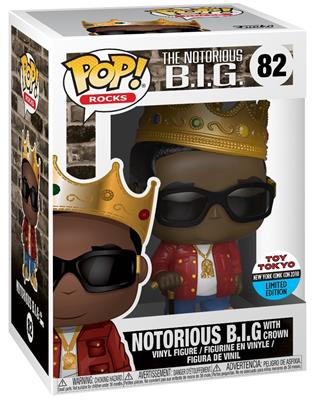 Funko Pop! Rocks Notorious B.I.G. (w/ Crown) + Sunglasses Stock
