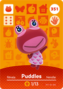 Amiibo Cards Animal Crossing Series 4 Puddles