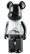Be@rbrick My First B@by Be@rbrick Black & Silver Baby 1000%