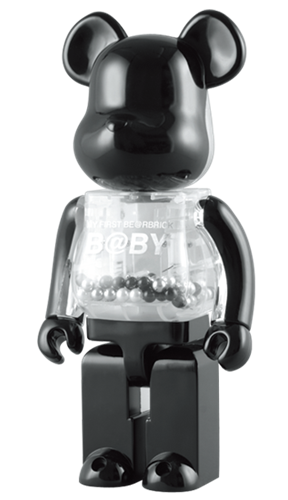 Be@rbrick My First B@by Be@rbrick Black & Silver Baby 1000% Icon