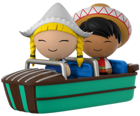 "Dorbz Dorbz Ridez Mexico & Holland (w/ ""Small World"" Boat) Icon"
