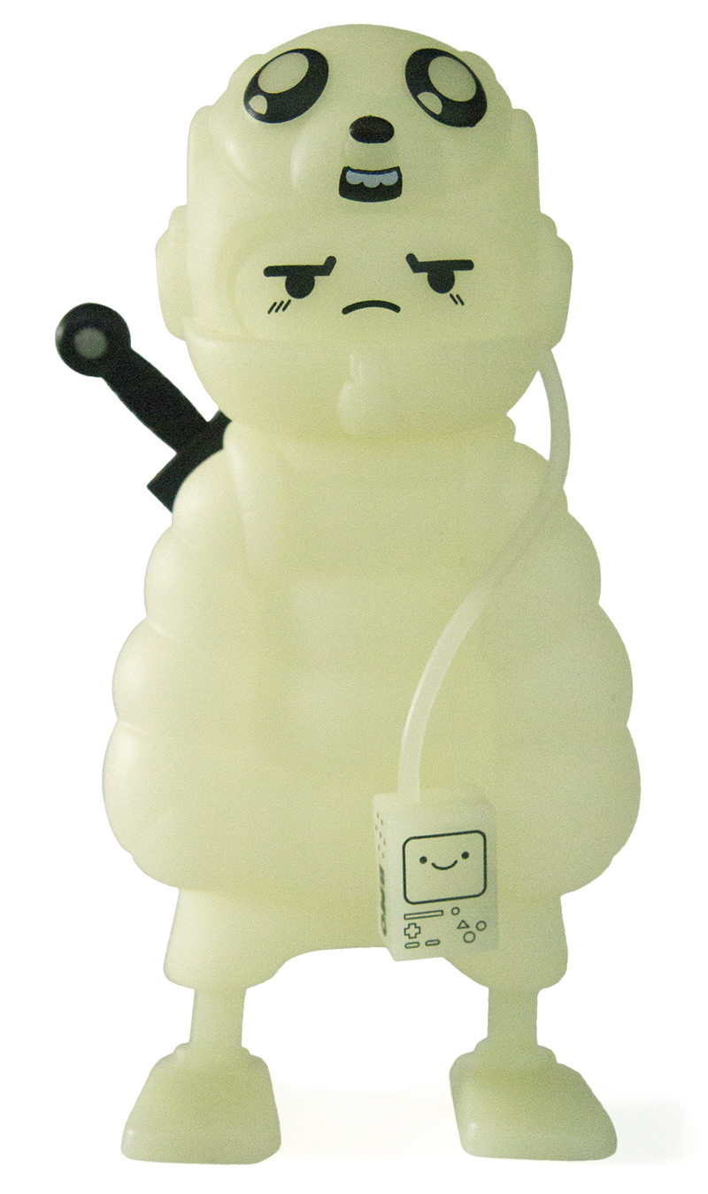 Kid Robot Adventure Time x Kidrobot Puff Jake 'n Lil Finn (Glow)