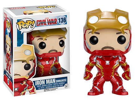 Funko Pop! Marvel Iron Man (Civil War) (Unmasked) Stock Thumb