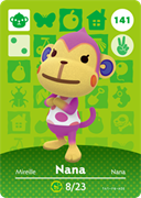 Amiibo Cards Animal Crossing Series 2 Nana