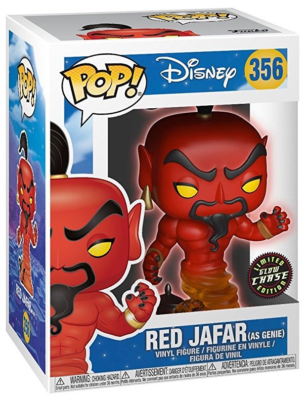 Funko Pop! Disney Red Jafar (as Genie) - Glow Chase Stock