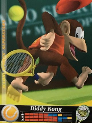 Amiibo Cards Mario Sports Superstars Diddy Kong - Tennis Icon