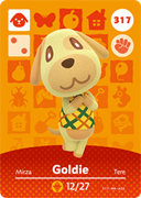 Amiibo Cards Animal Crossing Series 4 Goldie