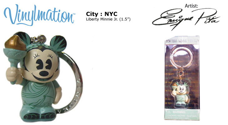 Vinylmation Open And Misc City New York Liberty Minnie Jr.