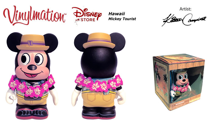 Vinylmation Open And Misc Exclusives Sunburn Tourist Mickey Mouse - Hawaii