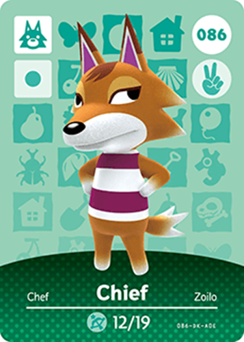 Amiibo Cards Animal Crossing Series 1 Chief