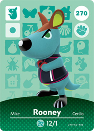 Amiibo Cards Animal Crossing Series 3 Rooney