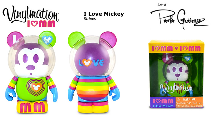 Vinylmation Open And Misc I Love Mickey Stripes