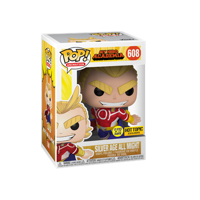 Funko Pop! Animation Silver Age All Might (Glows in the Dark) Stock