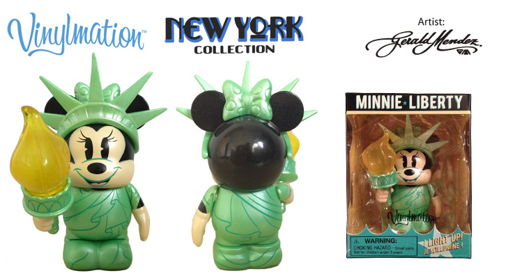 Vinylmation Open And Misc City Minnie Liberty - light