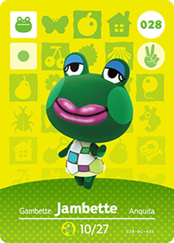 Amiibo Cards Animal Crossing Series 1 Jambette