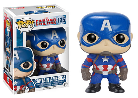 Funko Pop! Marvel Captain America (Civil War) Stock