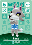 Amiibo Cards Animal Crossing Series 4 Fang