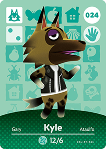 Amiibo Cards Animal Crossing Series 1 Kyle