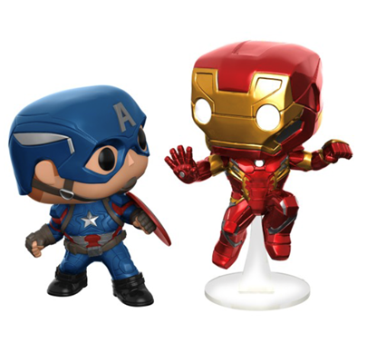 Funko Pop! Marvel Captain America & Iron Man (Civil War)
