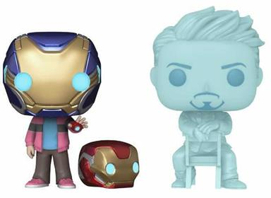 Funko Pop! Marvel Morgan Stark and Tony Stark (Glows in the Dark)